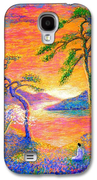 Field Paintings Galaxy S4 Cases - Divine Light Galaxy S4 Case by Jane Small