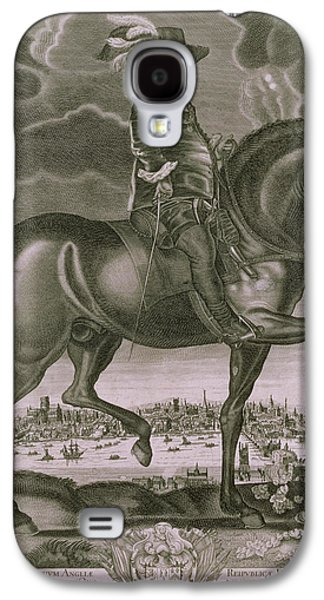 Animals Drawings Galaxy S4 Cases - Equestrian Portrait of Oliver Cromwell  Galaxy S4 Case by Albert Haelwegh