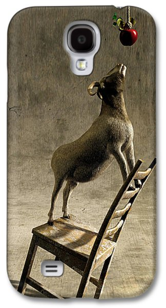 Goat Digital Art Galaxy S4 Cases - Equilibrium Galaxy S4 Case by Cynthia Decker