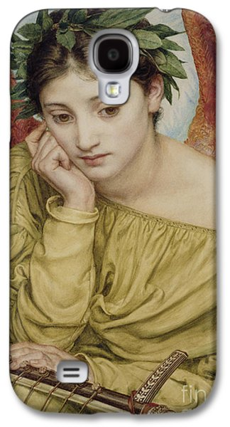 Wreath Paintings Galaxy S4 Cases - Erato Muse of Poetry 1870 Galaxy S4 Case by Sir Edward John Poynter