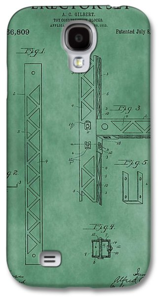 Toy Store Galaxy S4 Cases - Erector Set Patent Green Galaxy S4 Case by Dan Sproul