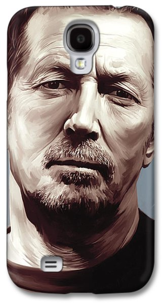 Eric Clapton Galaxy S4 Cases - Eric Clapton Artwork Galaxy S4 Case by Sheraz A