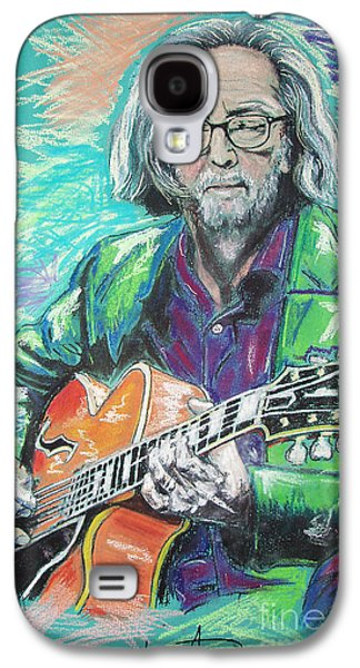 Blue Pastels Galaxy S4 Cases - Eric Clapton Galaxy S4 Case by Melanie D