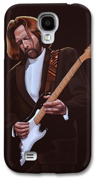 Stage Paintings Galaxy S4 Cases - Eric Clapton Galaxy S4 Case by Paul  Meijering