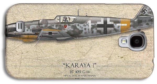 Erich Hartmann Messerschmitt Bf-109 - Map Background Galaxy S4 Case by Craig Tinder