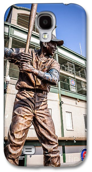 Ernie Banks Statue At Wrigley Field  Galaxy S4 Case by Paul Velgos