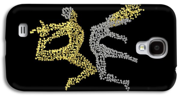 Constellations Sculptures Galaxy S4 Cases - Eros and Cosmos - back side - matrix Galaxy S4 Case by Sora Neva