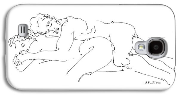 Figure Drawing Galaxy S4 Cases - Erotic Art Drawings 2 Galaxy S4 Case by Gordon Punt