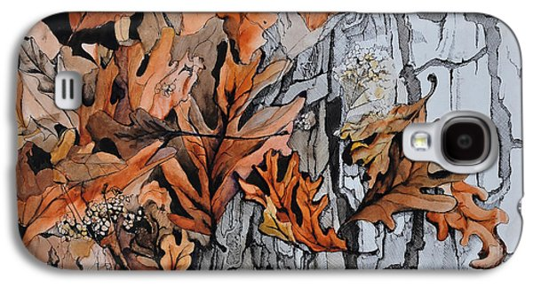 Disorder Paintings Galaxy S4 Cases - Eruption I Galaxy S4 Case by Rachel Christine Nowicki