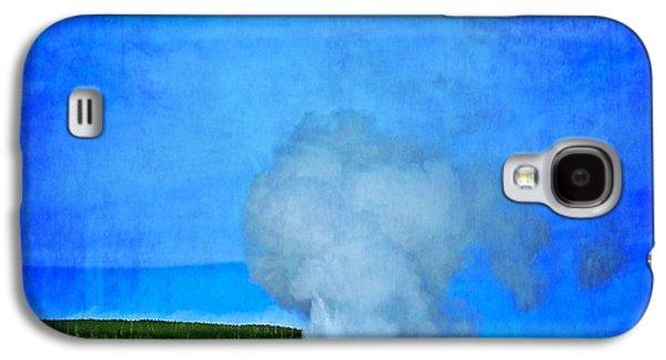Yellowstone Digital Galaxy S4 Cases - Eruption In Yellowstone Galaxy S4 Case by Dan Sproul