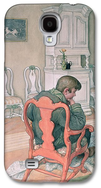 Sit-ins Paintings Galaxy S4 Cases - Esbjorn Convalescing Galaxy S4 Case by Carl Larsson
