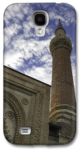 Ancient Galaxy S4 Cases - Esrefoglu Mosque Minaret Galaxy S4 Case by Phyllis Taylor