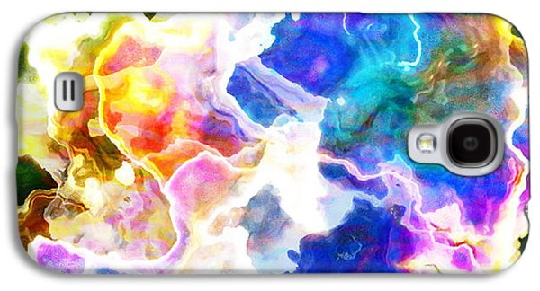 Colorful Abstract Mixed Media Galaxy S4 Cases - Essence - Abstract Art Galaxy S4 Case by Jaison Cianelli