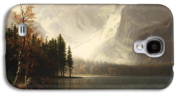Park Scene Digital Galaxy S4 Cases - Estes Park Colorado Whytes Lake Galaxy S4 Case by Albert Bierstadt