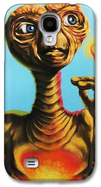 Science Fiction Pastels Galaxy S4 Cases - E.T. the Extra Terrestrial  Galaxy S4 Case by Brent Andrew Doty