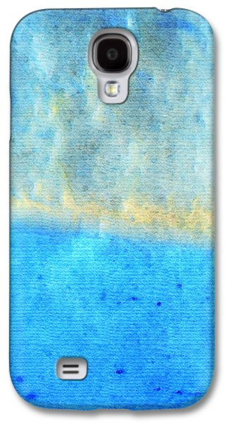Abstract Expression Galaxy S4 Cases - Eternal Blue - Blue Abstract Art By Sharon Cummings Galaxy S4 Case by Sharon Cummings