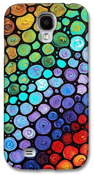 Modern Abstract Galaxy S4 Cases - Eternal Hope Galaxy S4 Case by Sharon Cummings