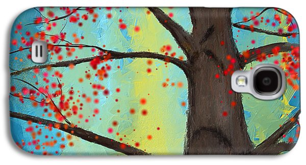 Blue And Red Paintings Galaxy S4 Cases - Eternal Passion Galaxy S4 Case by Lourry Legarde