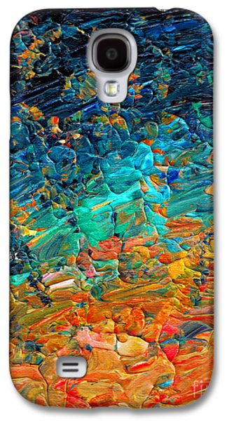 Sunset Abstract Galaxy S4 Cases - Eternal Tide 2 Galaxy S4 Case by Julia Di Sano