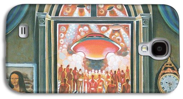 Folk Art Photographs Galaxy S4 Cases - Eternity, 1968 Oil On Canvas Galaxy S4 Case by Radi Nedelchev