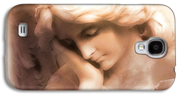 Statue Portrait Galaxy S4 Cases - Ethereal Angel Art - Dreamy Surreal Peaceful Comforting Angel Art Galaxy S4 Case by Kathy Fornal