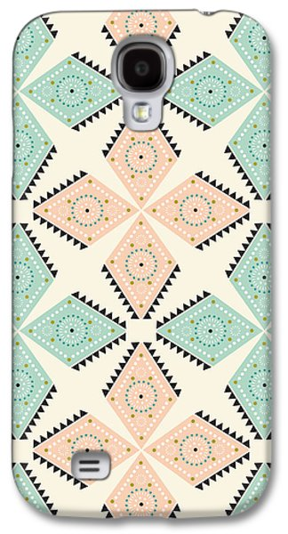 Ethnic Folk Print Galaxy S4 Case by Susan Claire
