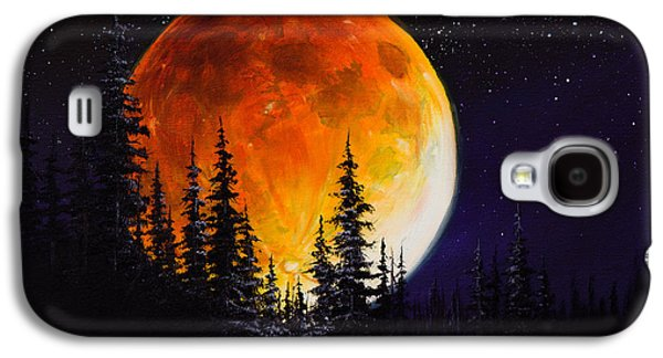 Recently Sold -  - Bob Ross Paintings Galaxy S4 Cases - Ettenmoors Moon Galaxy S4 Case by C Steele