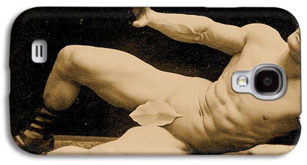 Mustache Galaxy S4 Cases - Eugen Sandow Galaxy S4 Case by Benjamin J Falk