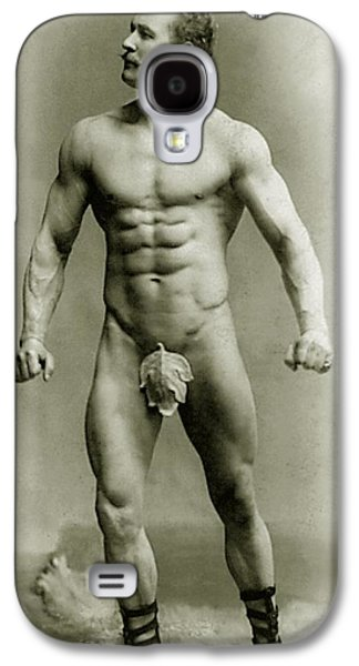 Eugen Sandow In Classical Ancient Greco Roman Pose Galaxy S4 Case by American Photographer
