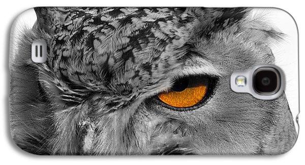 Photos Of Birds Galaxy S4 Cases - Eurasian Eagle Owl Galaxy S4 Case by Skip Willits