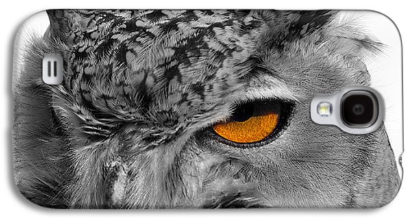 Photos Of Birds Galaxy S4 Cases - Eurasian Eagle Owl Galaxy S4 Case by Skip Willits