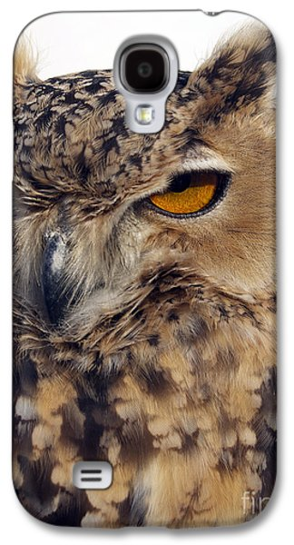 Photos Of Birds Galaxy S4 Cases - Eurasion Eagle Owl Galaxy S4 Case by Skip Willits