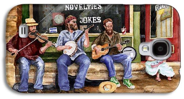 Arkansas Paintings Galaxy S4 Cases - Eureka Springs Novelty Shop String Quartet Galaxy S4 Case by Sam Sidders