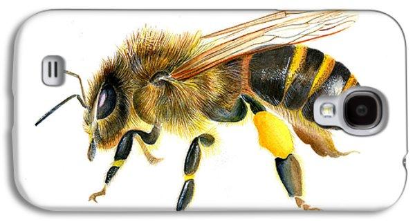 Disorder Paintings Galaxy S4 Cases - European Honey bee Galaxy S4 Case by Alison Langridge