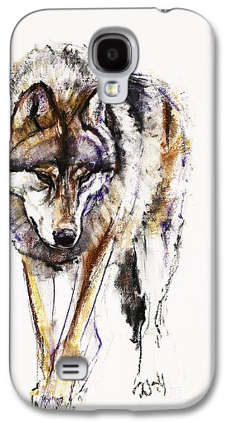 Animals Pastels Galaxy S4 Cases - European Wolf Galaxy S4 Case by Mark Adlington