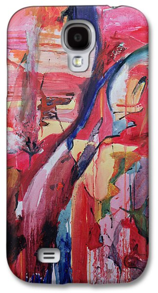 Drips Paintings Galaxy S4 Cases - Euskadi Galaxy S4 Case by Thomas Hampton