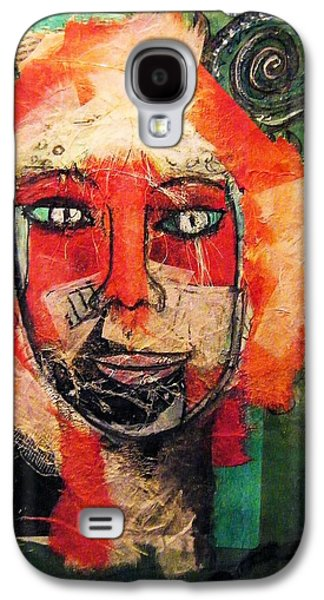 Smiling Mixed Media Galaxy S4 Cases - Eva Smiles Galaxy S4 Case by Mimulux patricia no