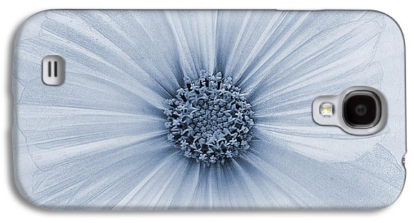 Close Focus Floral Galaxy S4 Cases - Evanescent Cyanotype Galaxy S4 Case by John Edwards