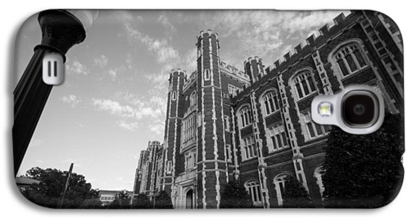 Evans Hall In Black And White Galaxy S4 Case by Nathan Hillis