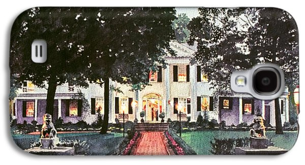 Pathways Paintings Galaxy S4 Cases - Evening At The Governors Mansion Galaxy S4 Case by David Lloyd Glover