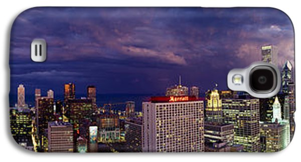 Business Galaxy S4 Cases - Evening Chicago Il Galaxy S4 Case by Panoramic Images