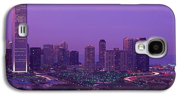 Brightly Galaxy S4 Cases - Evening Chicago Il Usa Galaxy S4 Case by Panoramic Images