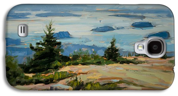 Maine Landscapes Paintings Galaxy S4 Cases - Evening Drift Galaxy S4 Case by Philip Frey