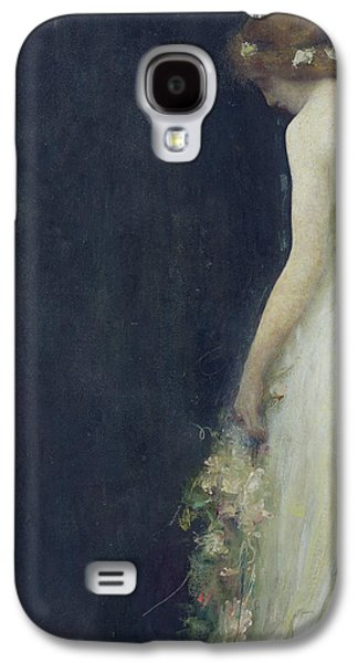 Sadness Paintings Galaxy S4 Cases - Evening Galaxy S4 Case by Gabriel-Joseph-Marie-Augustin Ferrier