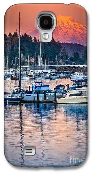 Mast Galaxy S4 Cases - Evening in Gig Harbor Galaxy S4 Case by Inge Johnsson