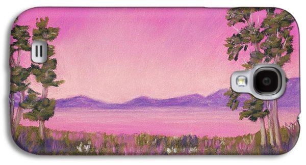 Surrealism Pastels Galaxy S4 Cases - Evening in Pink Galaxy S4 Case by Anastasiya Malakhova