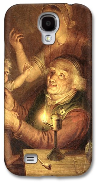 Night Lamp Paintings Galaxy S4 Cases - Evening Galaxy S4 Case by Jan Hendrick van Grootvelt