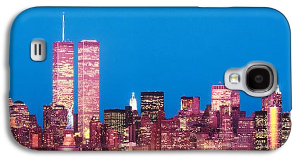 Twin Towers Nyc Galaxy S4 Cases - Evening Lower Manhattan New York Ny Galaxy S4 Case by Panoramic Images