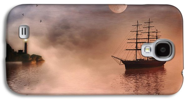 Sailing Ship Galaxy S4 Cases - Evening Mists Galaxy S4 Case by John Edwards
