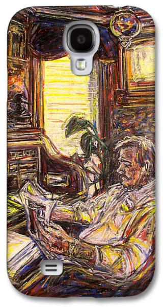 Chair Pastels Galaxy S4 Cases - Evening News Galaxy S4 Case by Kendall Kessler